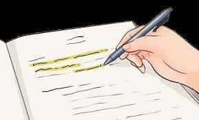 خط کشیدن زیر نکات مهم